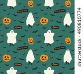vector seamless pattern with... | Shutterstock .eps vector #490810774