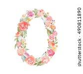 monogram number zero made of... | Shutterstock . vector #490811890