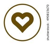 heart  icon vector. flat... | Shutterstock .eps vector #490815670