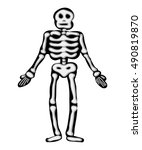 halloween skeleton vector... | Shutterstock .eps vector #490819870