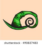 green witch hat | Shutterstock .eps vector #490837483