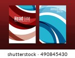abstract business annual report ... | Shutterstock .eps vector #490845430