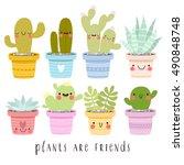 big set of illustrations of... | Shutterstock .eps vector #490848748