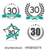 template logo 30 years... | Shutterstock .eps vector #490850074