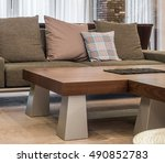 cofe table and sofa | Shutterstock . vector #490852783
