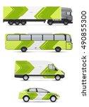 mockup vehicles for advertising ... | Shutterstock .eps vector #490855300