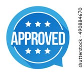 approved sign vector badge | Shutterstock .eps vector #490884670