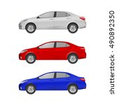 the set of three realistic cars ... | Shutterstock .eps vector #490892350