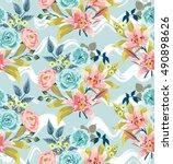 a vector seamless pattern of... | Shutterstock .eps vector #490898626