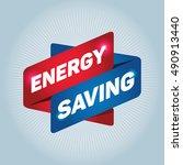 energy saving arrow tag sign. | Shutterstock .eps vector #490913440