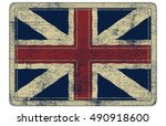 british flag patch | Shutterstock .eps vector #490918600