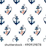 beautiful seamless vector... | Shutterstock .eps vector #490919878