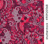 tracery seamless calming...   Shutterstock .eps vector #490920568
