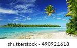 beautiful tropical island... | Shutterstock . vector #490921618