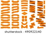 set of vintage halloween... | Shutterstock .eps vector #490922140