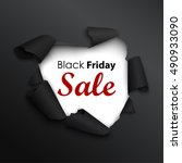 black friday sale banner in the ... | Shutterstock .eps vector #490933090