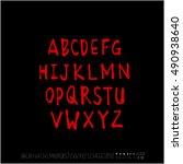 alphabet   number   handwriting ... | Shutterstock .eps vector #490938640