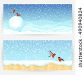 festive winter backgrounds with ... | Shutterstock .eps vector #490940824