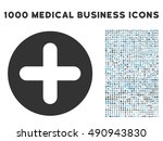 create icon with 1000 medical... | Shutterstock . vector #490943830