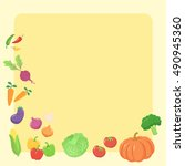 healthy vegetables food icon... | Shutterstock .eps vector #490945360