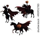 headless horseman collection.... | Shutterstock .eps vector #490951783