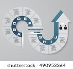 abstract 10 steps infographis... | Shutterstock .eps vector #490953364