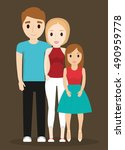 mother father and daughter icon.... | Shutterstock .eps vector #490959778