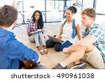 young office workers or...   Shutterstock . vector #490961038