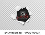 black friday  card for sale... | Shutterstock .eps vector #490970434
