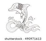 zentangle stylized cartoon...   Shutterstock .eps vector #490971613