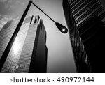 windows of business building... | Shutterstock . vector #490972144