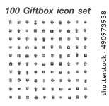 100 giftbox icon set