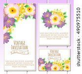 romantic invitation. wedding ... | Shutterstock .eps vector #490975510