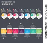 timeline infographics design... | Shutterstock .eps vector #490977838