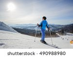 Young Beautiful Female Skier O...