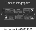 timeline infographics with line ...