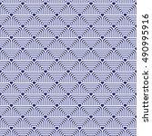 blue vector seamless pattern  | Shutterstock .eps vector #490995916