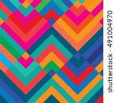 vector color pattern. geometric ... | Shutterstock .eps vector #491004970