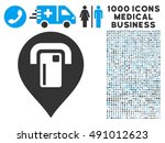 atm map pointer icon with 1000... | Shutterstock . vector #491012623