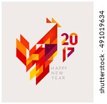minimalistic vector abstract... | Shutterstock .eps vector #491019634