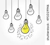 light bulb creative design....   Shutterstock .eps vector #491019946