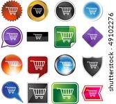 shopping cart | Shutterstock . vector #49102276