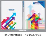 annual report cover design | Shutterstock .eps vector #491027938