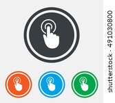 hand cursor sign icon. hand... | Shutterstock .eps vector #491030800