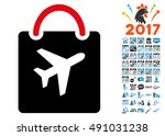 duty free bag icon with 2017...