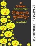 congratulations happy halloween ...   Shutterstock .eps vector #491039629