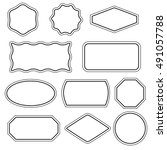 collection of simple vector... | Shutterstock .eps vector #491057788