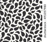 abstract drops   vector... | Shutterstock .eps vector #491057980