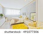 modern luxury bedroom | Shutterstock . vector #491077306