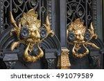 Closeup Of Pair Of Ornate...